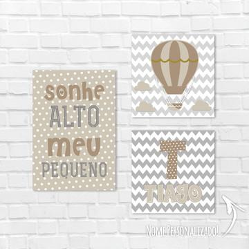 Placas Decorativas MDF - Sonhe Alto Meu Pequeno balão