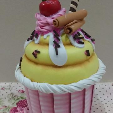 Cupcake Porta Objetos Listrado