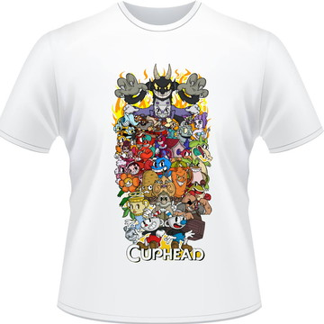 Camiseta Cuphead Personagens Masculina