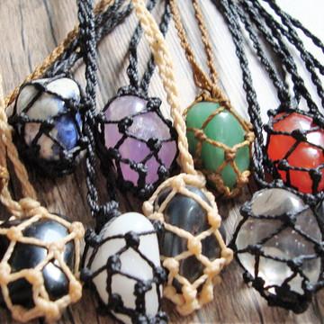 ATACADO 15 Colares Hippie Pedra
