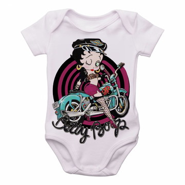 329cd12b4a Body Bebê Roupa Infantil Criança Betty Boop moto harley davd