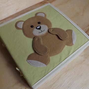 Quiet Book - Livro de Pano - Feltro - Livro Sensorial