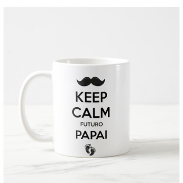 Caneca Keep Calm Futuro Papai