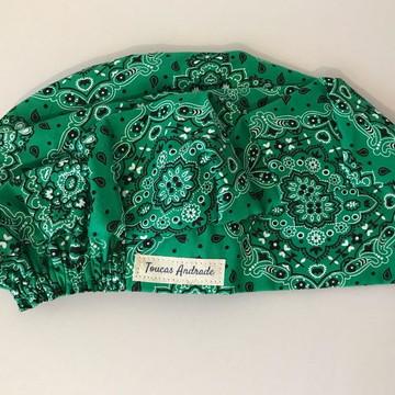 Touca feminina bandana verde