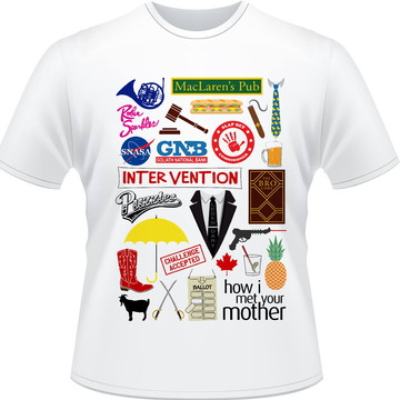 Camiseta How I Met You Mother Referencias Masculina