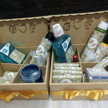 2 Kits Toalete Completos com caixas MDF e todos os produtos