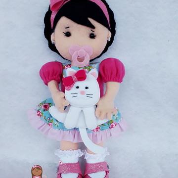Boneca Personalizada com Gatinho