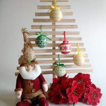 Árvore de Natal Madeira Rústica