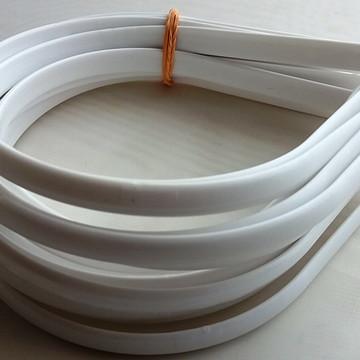 Tiaras Brancas Lisas Para Encapar 10 mm Pacote com 12 Peças
