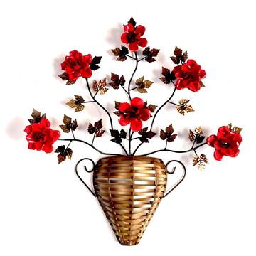 Decoracao para Parede Flores Artesanato Rustico Escultura