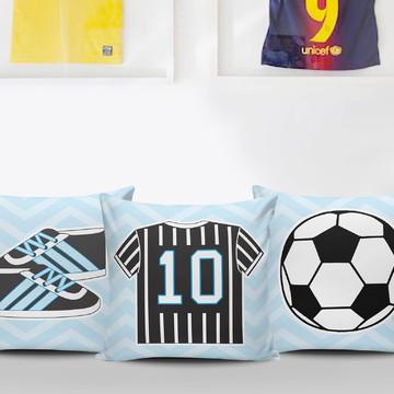 Almofadas Infantis Futebol - Decoração Personalizada