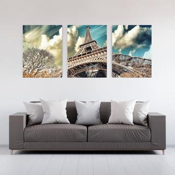f0104ec37 Kit Quadro Canvas 50x70cm com 3 peças Paris 02