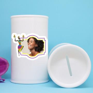 Cofrinho de plástico com foto – africana