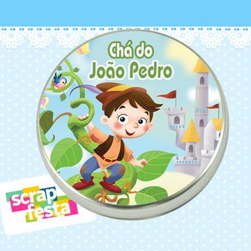 Lembrancinhas de Chá de Bebê Latinhas João Pé de Feijão