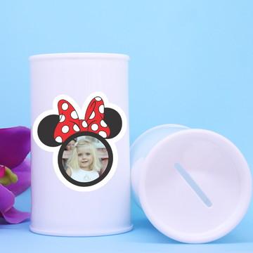Cofrinho de plástico com foto – Minnie