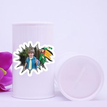 Cofrinho de plástico com foto – Robin