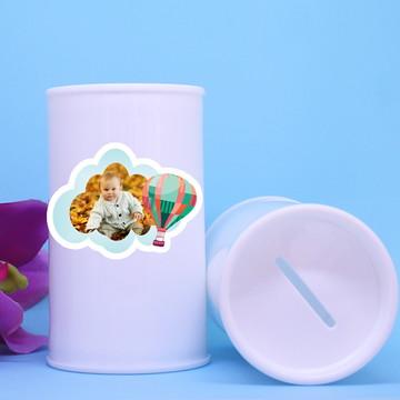 Cofrinho de plástico com foto – balão
