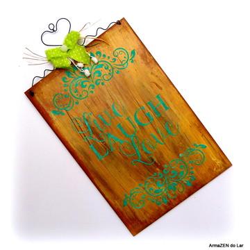 Placa rustica decorativa - Bem-vindos