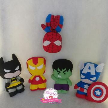 Kit Heróis em Feltro Cute