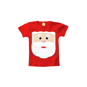 Camiseta INFANTIL OU Body Carinha de Papai Noel 2