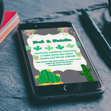 Convite Digital Cacto Whatsapp
