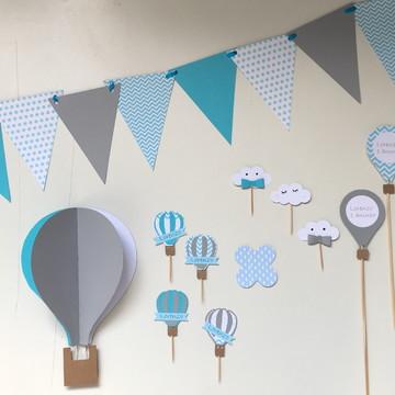 Decoração de Parede e Mesa - Festa Balões