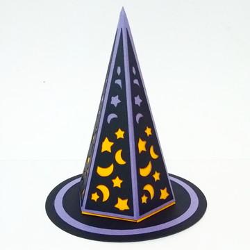 Caixa Halloween Chapéu Bruxa