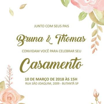 Convite Casamento - Boho Chic