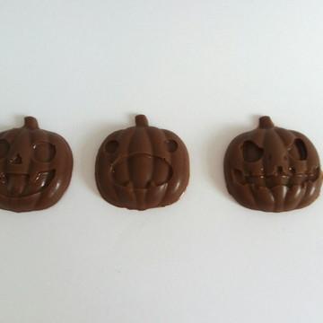 Abóbora do Halloween de chocolate para lembrancinhas