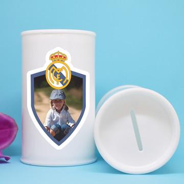 Cofrinho de plástico com foto – time futebol Real Madrid