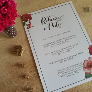 Convite de Casamento Delicado
