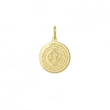 9f723be24a620 Pingente Sao Bento Folheado Ouro