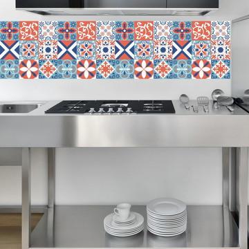 Adesivo Azulejo Decorativo - Azulejo Adesivo Kit Gorete