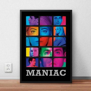 """Quadro """"Maniac"""" com moldura e vidro"""
