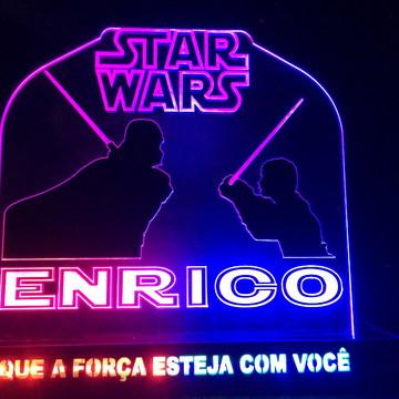 Promoção Decoração de Mesa Star Wars com LED Personalizado