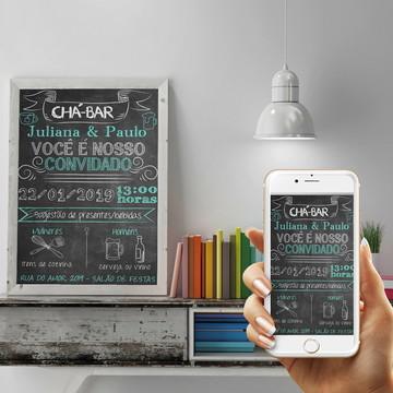 Convite Digital - Tema Chá Bar
