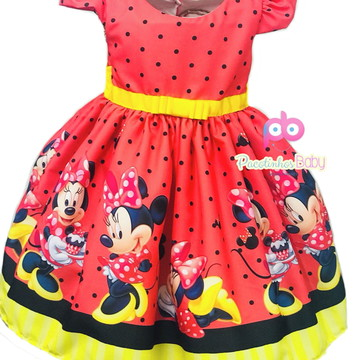 Vestido de Festa Minnie