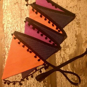 Bandeirolas para decoração de Halloween