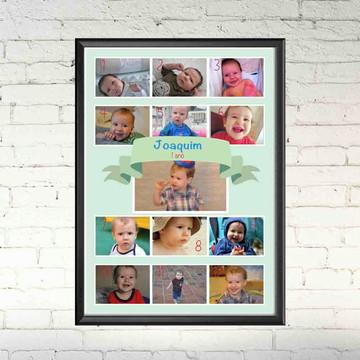 Quadro Digital Primeiro Ano do Bebê