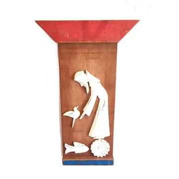 Quadro Decorativo São Francisco De Assis Em Madeira Altar