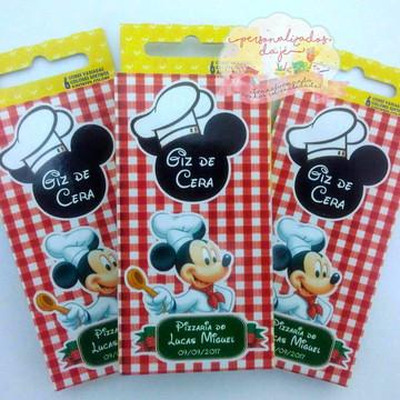 Giz de Cera Pizzaria do Mickey