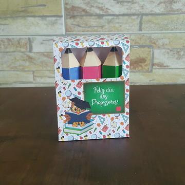 8a78a54315 Caixa Lápis de cor dia dos professores