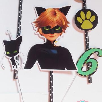 Topo de Bolo Cat Noir