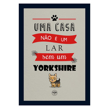Quadro Cachorro Yorkshire 20x30 - Novo!