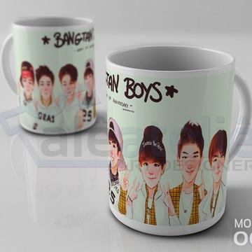 Caneca Bts Kpop Bangtan Boys Bias Logo Army Personalizada