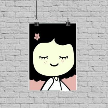 Poster digital menina