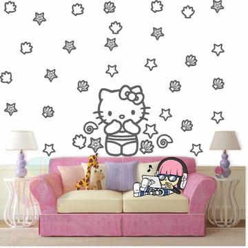 Adesivo Kit Hello Kitty cinza escuro