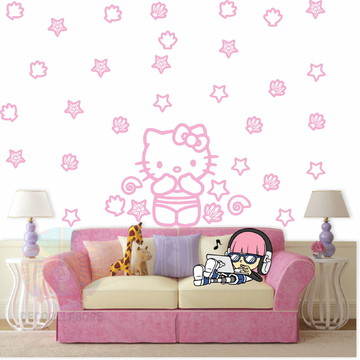 Adesivo kit Hello kitty rosa e claro