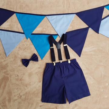 """Kit """"Smash the Cake"""" - Menino (Azul)"""