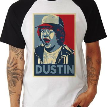 Camiseta Raglan Dustin Stranger Things Série 3337